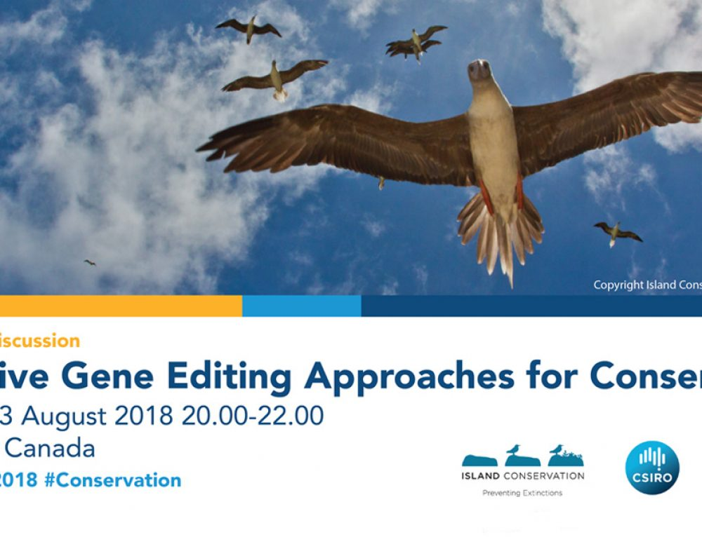 International Ornithological Congress 2018 Presents: Innovative Gene Editing Approaches for Conservation